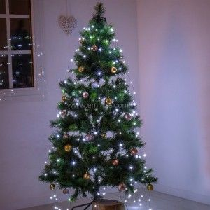 Rideau pour sapin Flashing light H1,80 m Blanc froid 252 LED