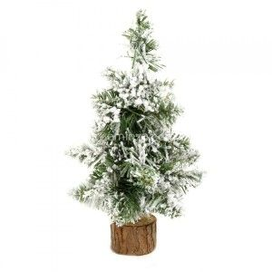 Arbolito artificial para mesa nevado Blooming Alto 25 cm Blanco