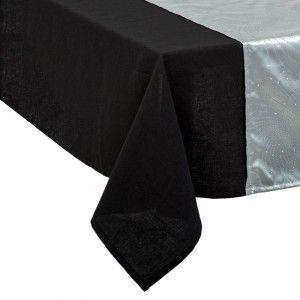 chemin de table l140 cm shantung gris linge de table. Black Bedroom Furniture Sets. Home Design Ideas