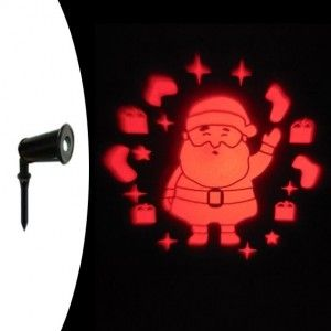 Projector vast Kerstman Rood 1 LED
