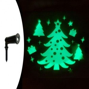 Laser projector vast Kerstboom groen 1 LED