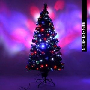 Sapin de Noël en fibre optique Johnson H150 cm