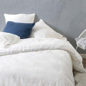 Funda nórdica (140 cm) lino lavado Pure Nieve
