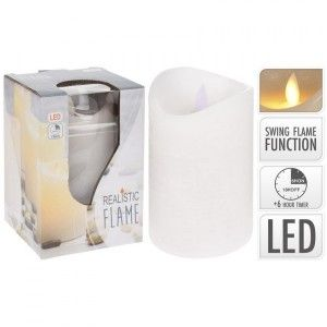 Bougie LED Flamme vacillante Blanc