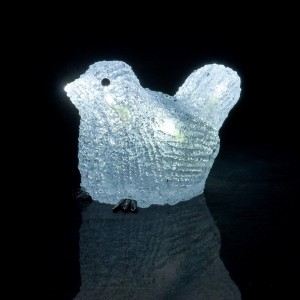 Pájaro Limosa luminoso Blanco frío 8 LED