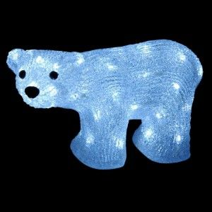 Ours lumineux Polaire Blanc froid 50 LED