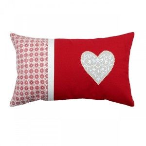 Coussin rectangulaire Darla Rouge