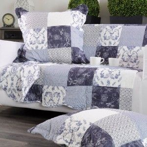 couvre lit 220 x 240 cm candy bleu couvre lit boutis eminza. Black Bedroom Furniture Sets. Home Design Ideas