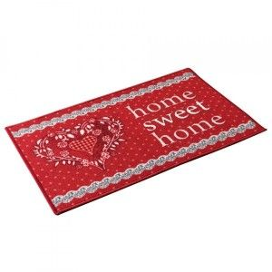 Tapis d'entrée (60 cm) Home love Rouge