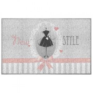 Tapis multi-usage (80 cm) Couture Rose pâle