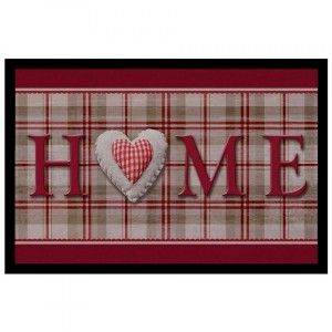 Tappeto d'ingresso photoprint Vichy Home Rosso