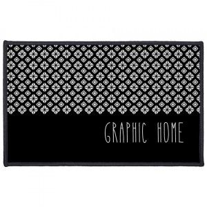 Tapis multi-usage (80 cm) Graphic Home Noir