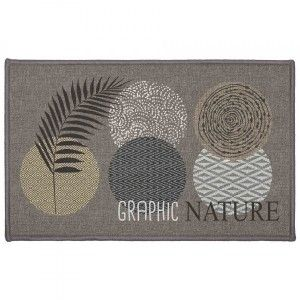 Tapis multi-usage (80 cm) Odaly graphic Gris