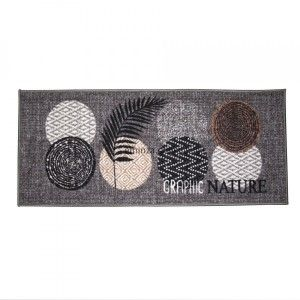 Tapis multi-usage (120 cm) Odaly graphic Gris