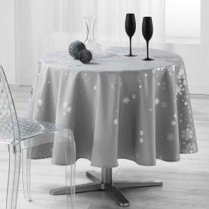 Nappe ronde (D180 cm) Constellation Gris