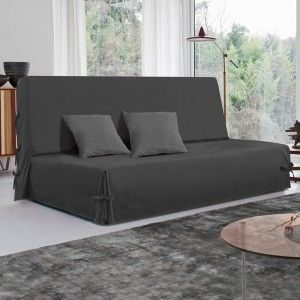 housse de clic clac axel anthracite housse de clic clac bz eminza. Black Bedroom Furniture Sets. Home Design Ideas