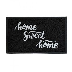 Tappeto d'entrata (75cm) Home Sweet home Nero