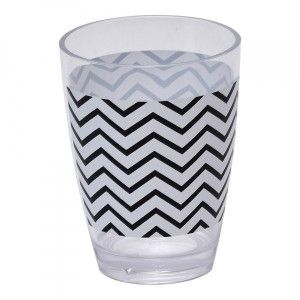 Vaso Black and White Blanco