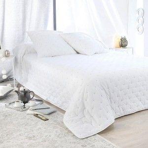 boutis et taies doreiller 230 x 250 cm leonie blanc - Dessus De Lit Boutis