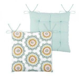 galette et coussin de chaise vert coussin et galette eminza. Black Bedroom Furniture Sets. Home Design Ideas
