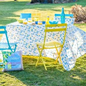Nappe rectangulaire (L250 cm) Lemonade Jaune