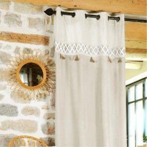 voilage ecru beautiful beautiful la redoute interieurs. Black Bedroom Furniture Sets. Home Design Ideas
