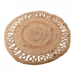Alfombra  rond (D90 cm) Paco Beige natural