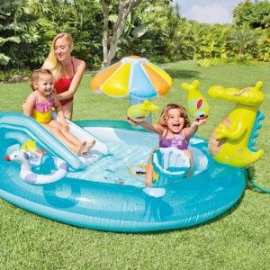 Aire de jeux gonflable Alligator - Intex