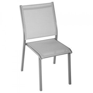 Chaise de jardin empilable Essentia - Gris clair/Gris