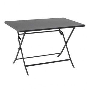 Table de jardin rectangulaire pliante Métal Greensboro (110 x 70 cm) - Ardoise