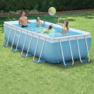 Piscine tubulaire rectangulaire Prism L4 x l2 x H1 - Intex