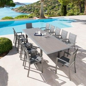 Table de jardin extensible Aluminium Allure (316 x 115 cm) - Mastic
