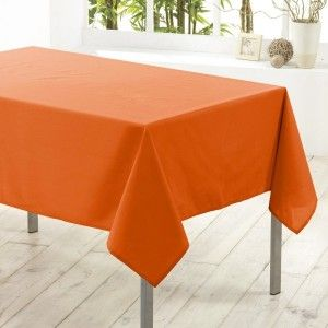 Nappe carrée anti tache (L180 cm) Essentiel Orange brique