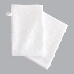 Lot de 2 gants de toilette Mist Blanc