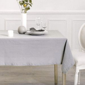 Nappe rectangulaire (L240 cm) Chambray Gris clair