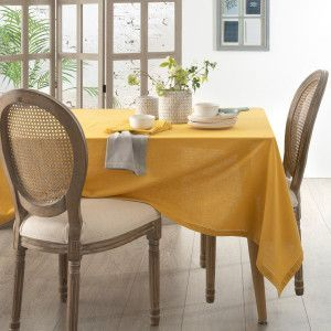 Nappe rectangulaire (L240 cm) Chambray Ocre