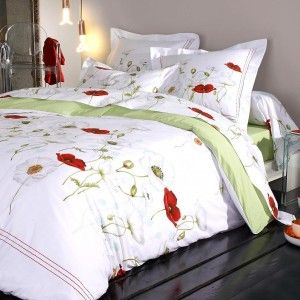 Housse de couette percale de coton (260 cm) Seduction Blanc