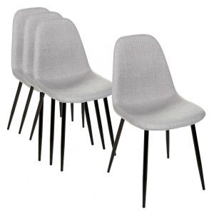 Lot de 4 chaises Tyka Grise