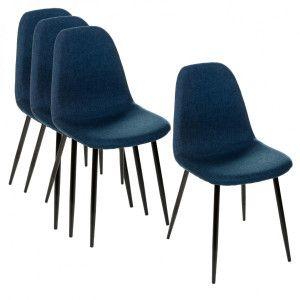 Lote de 4 sillas Tyka Azul Marino