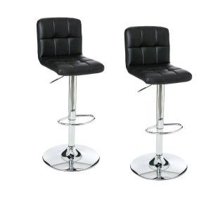 Lot de 2 tabourets de bar Delek Noir