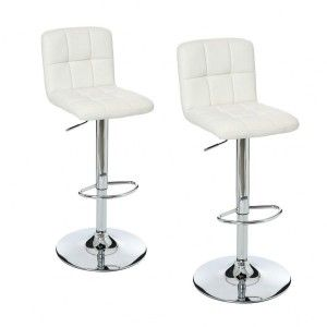 Lot de 2 tabourets de bar Delek Blanc