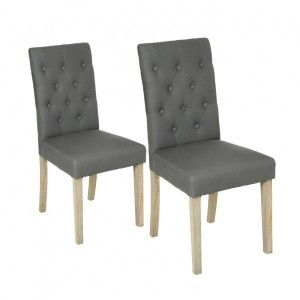 Lot de 2 chaises Canvas Cleva Gris