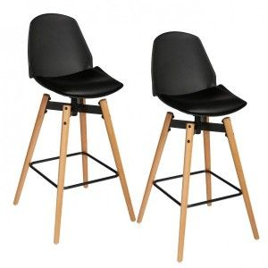 Lot de 2 tabourets de bar Wilio Noir