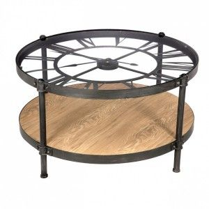 Table basse Pendule Chrono Noir