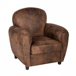 Fauteuil Club Stanis Marron