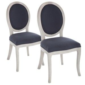 Lot de 2 chaises Cleon Gris Anthracite