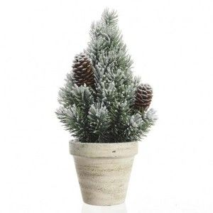 Sapin artificiel de table Sibérie H25 cm Vert enneigé