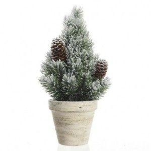 Sapin artificiel de table Sibérie  H30 cm Vert enneigé