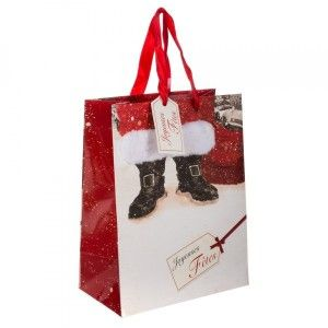 Sac cadeau H23 cm Bottines Rouge
