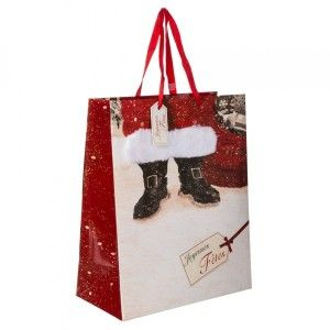 Sac cadeau H33 cm Bottines Rouge